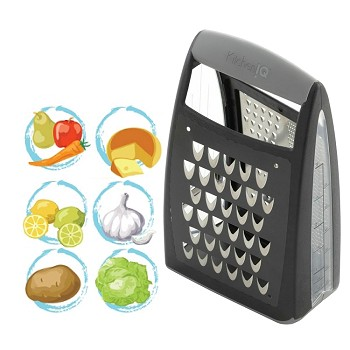 KitchenIQ Box Grater - Charcoal