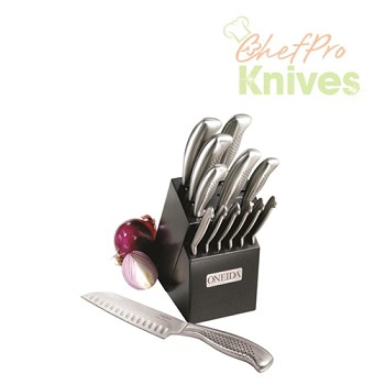 Oneida Knives and 13-Slot Block Set, 14 Pc.
