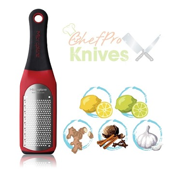 Microplane Artisan Fine Grater, High Risk Red