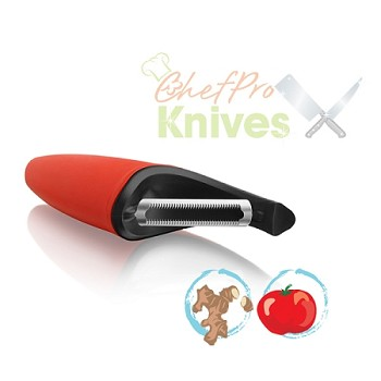 Microplane Easy Prep Red Serrated Blade Peeler