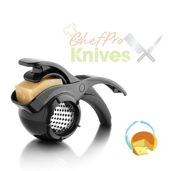 Microplane Specialty Black Easy to Squeeze Rotary Grater - Star Blade