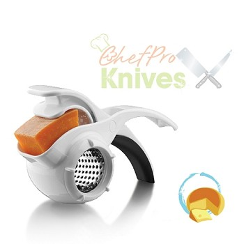 Microplane Specialty White Easy to Squeeze Rotary Grater - Star Blade