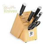 Shun Classic Essential Knives and Block Set, 7 Pc.