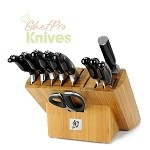 Shun Ken Onion Deluxe Knives and Block Set, 11 Pc.