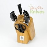 Shun Ken Onion Essential Knives and Block Set, 7 Pc.