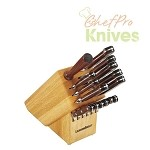 Lamson Knives and 15-Slot Block Set, 16 Pc.