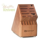 Wusthof 17-Slot Knife Storage Block, Cherry
