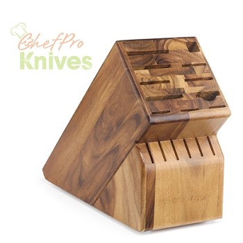 Wusthof Knife Block in Acacia - 17 Slot