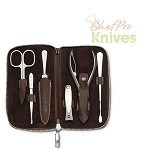 Wusthof Manicure Set, Brown, 7 Pc.