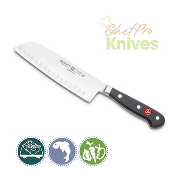 Wusthof Classic Hollow Edge Santoku Knife - 7 in
