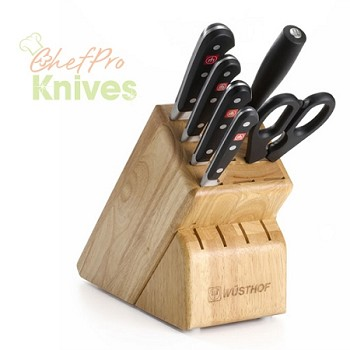Wusthof Classic 13-Slot Knife Block Set, 7 Pc., Beechwood