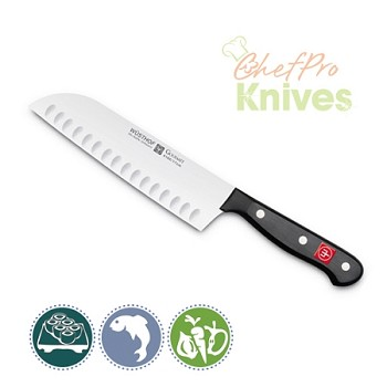 Wusthof Gourmet Santoku, Hollow Edge - 7 in