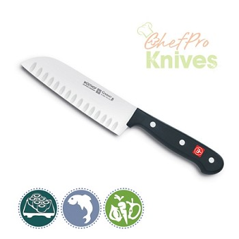 Wusthof Gourmet Santoku, Hollow Edge - 5 in