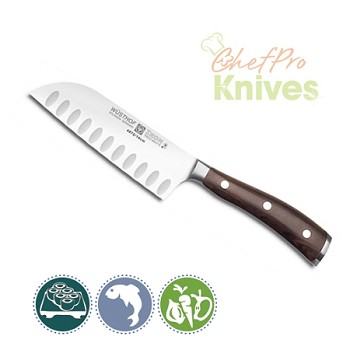 Wusthof Ikon Blackwood Santoku Knife, 5""