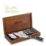 Wusthof Ikon Blackwood Steak Knife Set with Wooden Chest, 5 Pc.