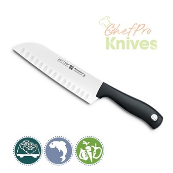 Wusthof Silverpoint II Hollow Edge Santoku Knife - 7 in