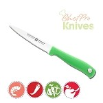 Wusthof Silverpoint II Serrated Paring Knife, Green, 4