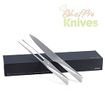Chroma P517 Type 301 Carving Knife and Fork Set, 2 Pc.